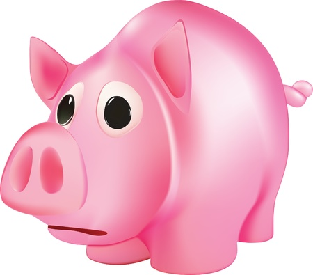 funny pink pig eps10 Vector