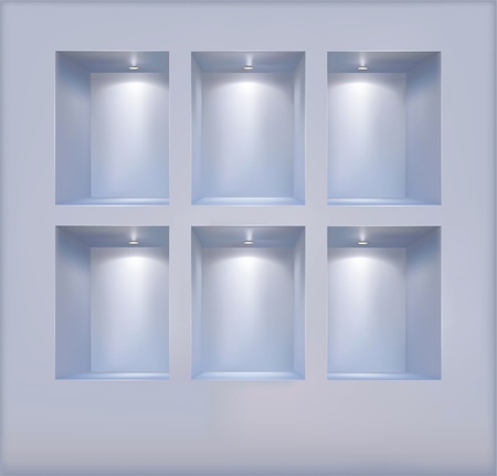 Vector shelves consecrated soffit Stock Vector - 11100989