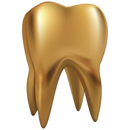 diente caricatura: diente de oro eps10