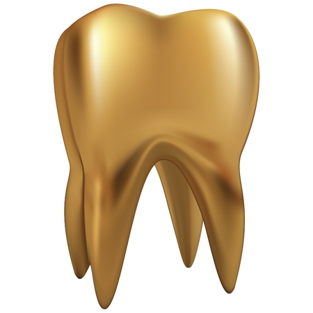 tooth icon: gold tooth eps10