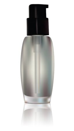 lotion bottle: Vector cosmetic container