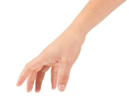 la mano aisladas sobre fondo blanco