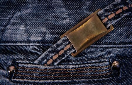 Jeans background with inset photo