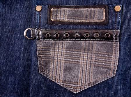 cloth back: pocket blue jeans