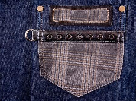 cloth back: pocket blue jeans