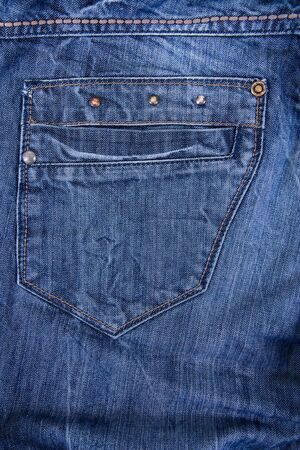 pocket blue jeans photo