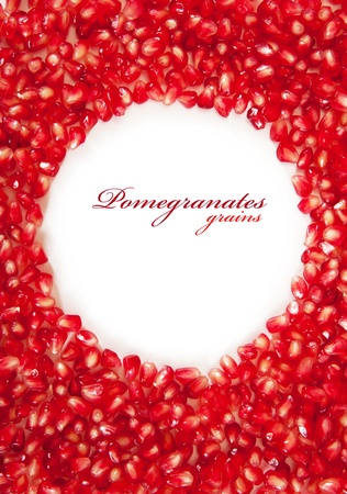 a pomegranate: background from the garnet grains