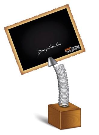 holder for the photo. vector Illustration