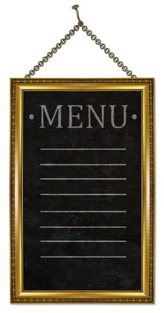 menu board . isolated on white. photo