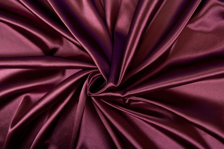 Satin red fabric photo