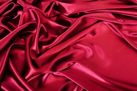 Satin red fabric photo