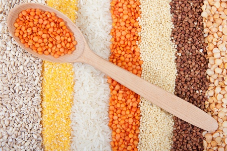 Background of different kinds of grains Stock Photo - 11903693