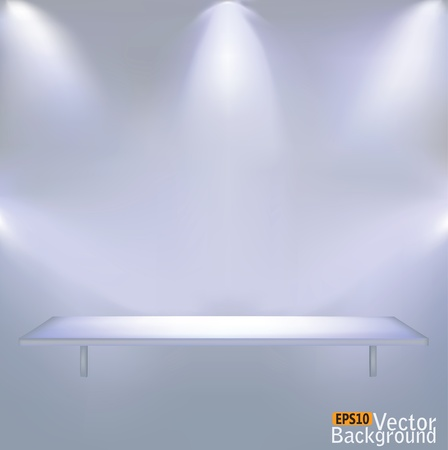 Shelf illumination  Vector