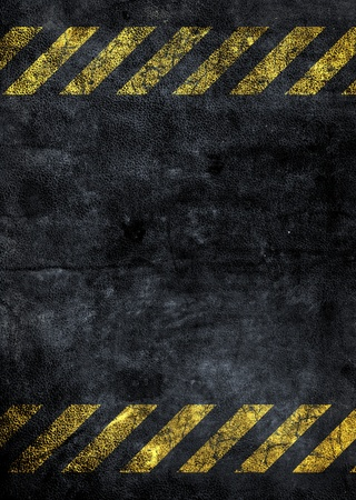 grunge background with a strip of danger