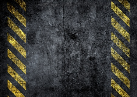grunge background with a strip of danger Stock Photo - 12835602