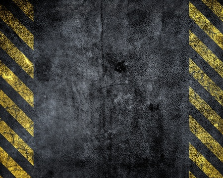 grunge background with a strip of danger photo