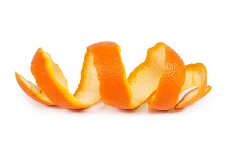 orange peel skin: orange peel isolated on white background Stock Photo