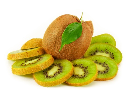 Kiwi Fruit. isolated on a white background photo