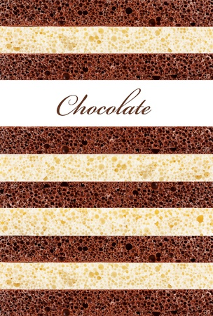 Background of the porous chocolate photo