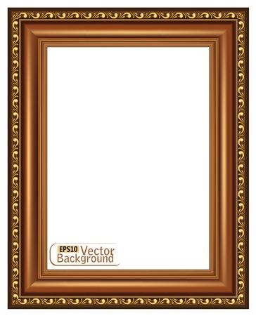 Gilded wooden frame.