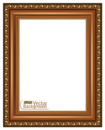 wood craft: Gilded wooden frame.