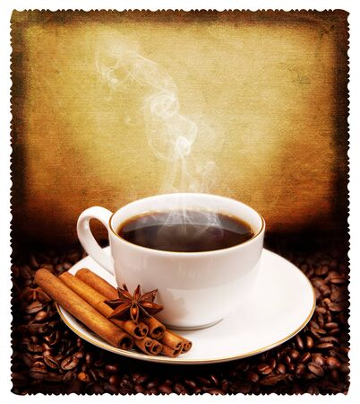 anisetree: Postcard. coffee Stock Photo