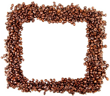 expresso: frame made of coffee beans