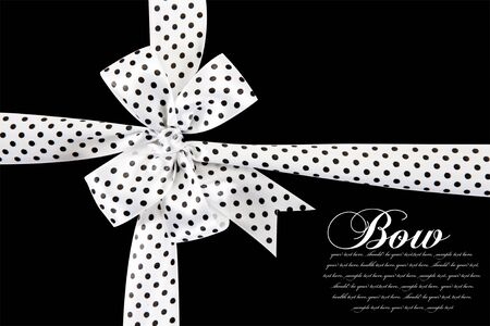 black ribbon bow: polka dot bow on the ribbon