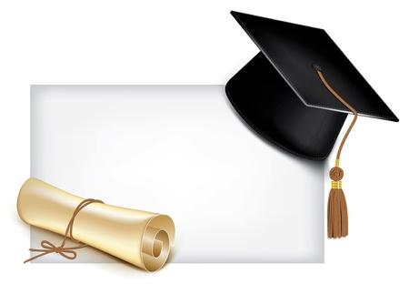 chapeau de graduation: Graduation cap et dipl�me