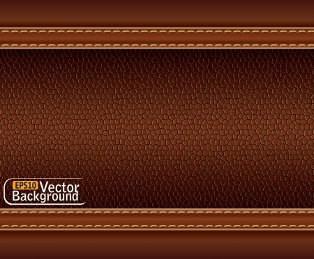 texture of brown leather. Stock Vector - 15233626