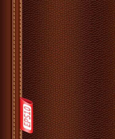 brown leather: texture of brown leather.