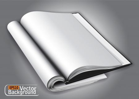 writing pad: Open magazine layout.