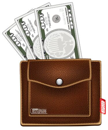 notecase: purse with money.