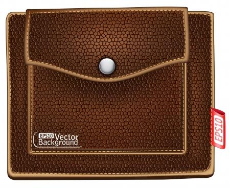 brown purse. Stock Vector - 15233815
