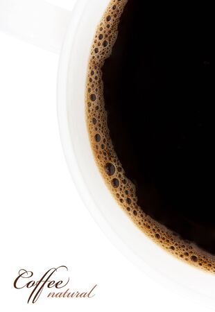 comida arabe: taza de caf?isladas sobre fondo blanco Foto de archivo