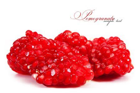 grenadine: pomegranate . isolated on white background