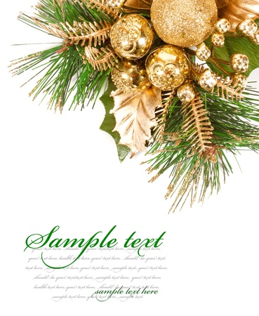 new year eve beads: Christmas tree with ornaments