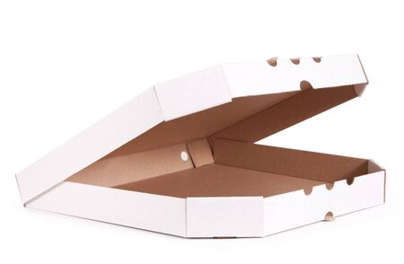 pizza box: Pizza box isolated on white background
