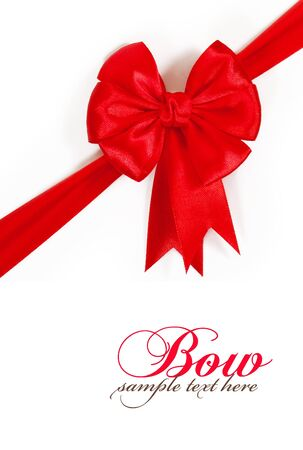 christmas bow: red bow isolated on white background