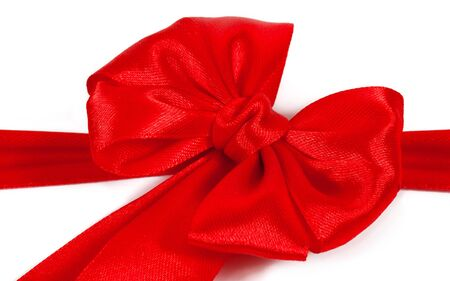 red bow isolated on white background photo