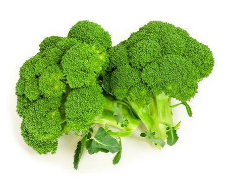 broccoli isolated on white 免版税图像