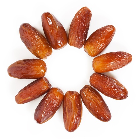 Dates isolated on white background photo