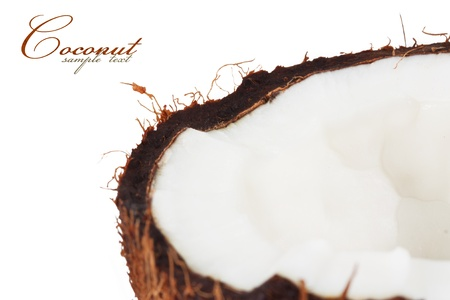 aceite de coco: De coco. aislado en un fondo blanco Foto de archivo