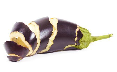 eggplant with peeling skin  isolated on white background Stock Photo - 22230642