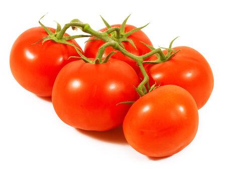 stipe: Tomato close-up. isolated on white background Stock Photo