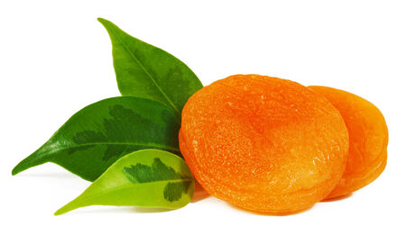 dried leaf: Dried apricots close-up