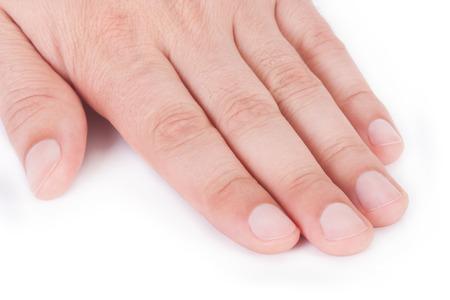 Male manicure Banque d'images