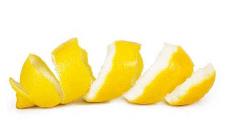 lemon peel isolated on white background Stock Photo