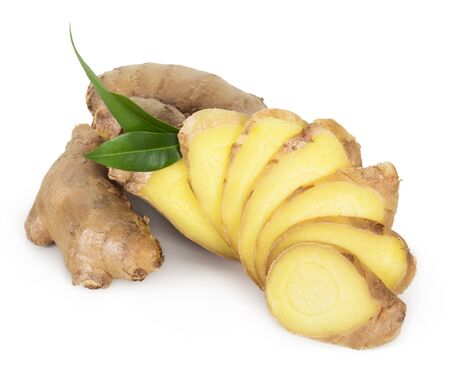 fresh ginger: Fresh ginger isolated on white background
