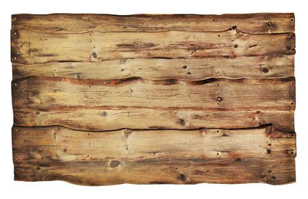 Cartel de madera aislado en un fondo blanco Foto de archivo - 41093119